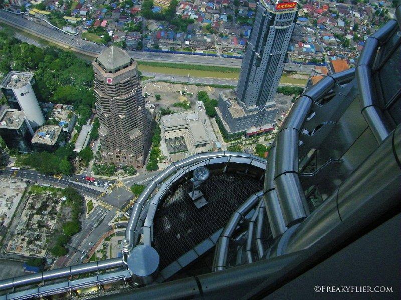 Looking down at the city of Kuala Lumpur