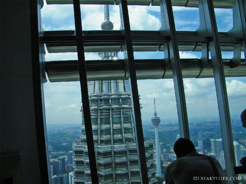 Looking through the windows from the 86th floor