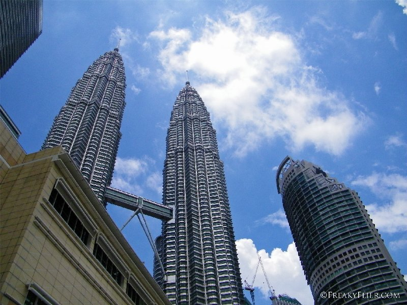 The Petronas Twin Towers - looking up