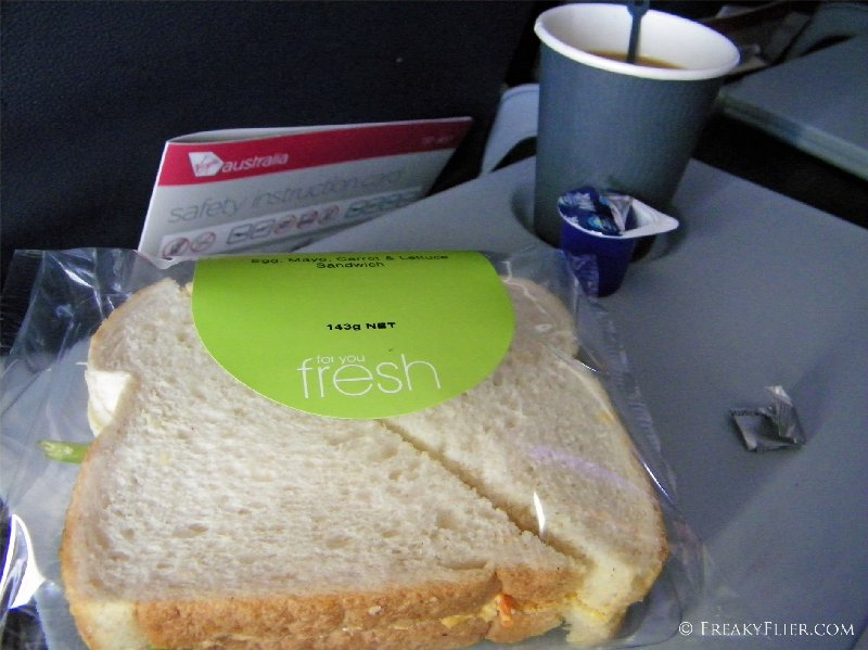 Egg and lettuce Sandwich with coffee (coffee included in the fare)