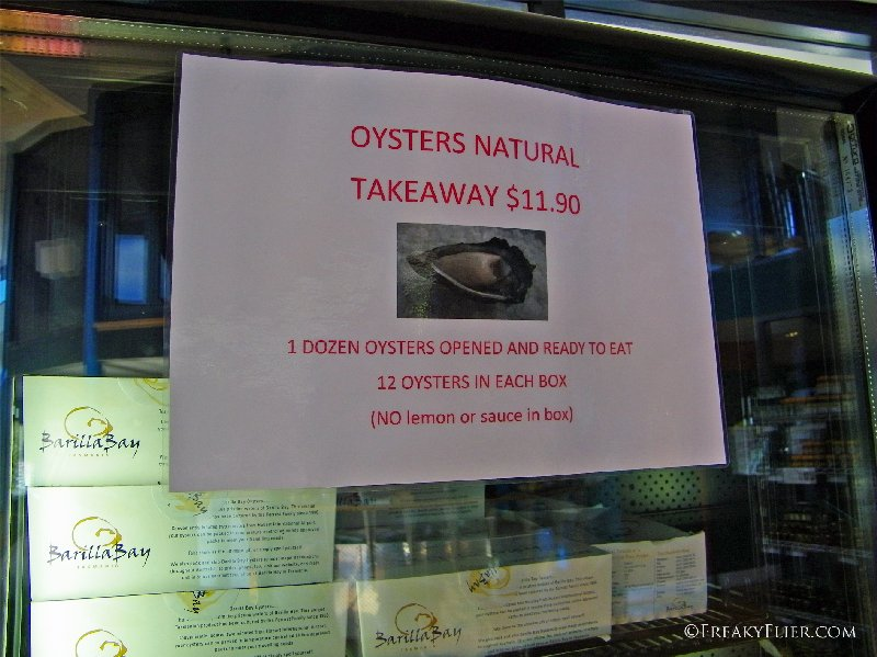 Oysters Natural $11.90 per dozen take away