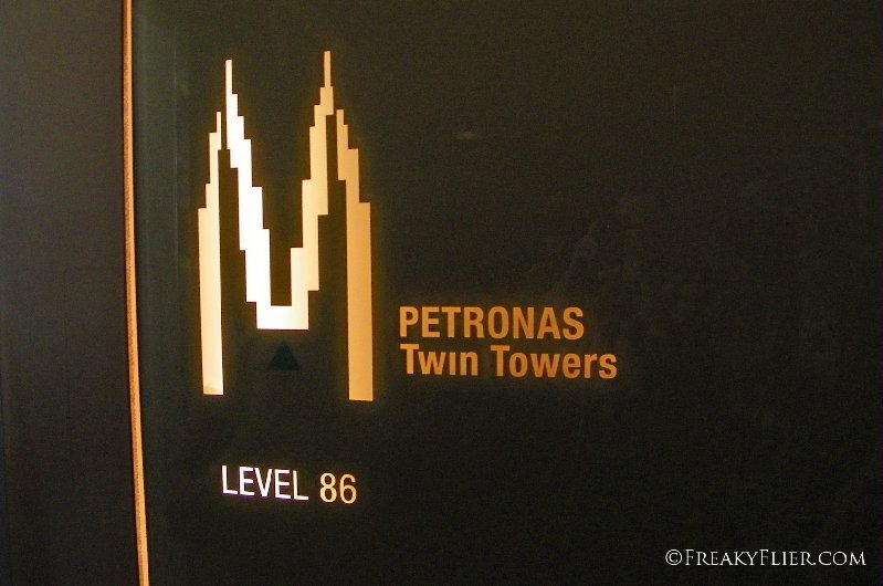 Arriving on Level 86 of the Petronas Twin Towers