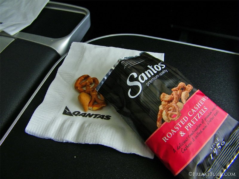 Santos Roasted Cashews and Pretzels