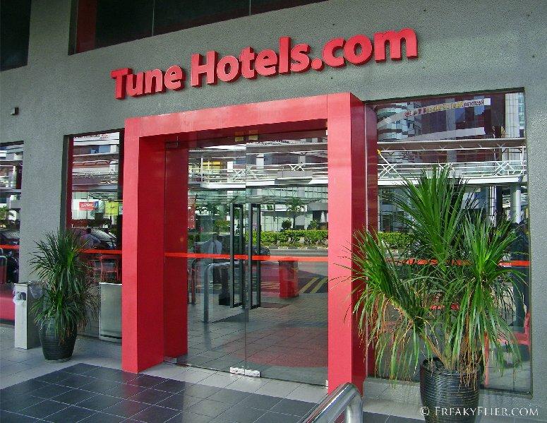 Entrance to Tune Hotel Downtown Kuala Lumpur
