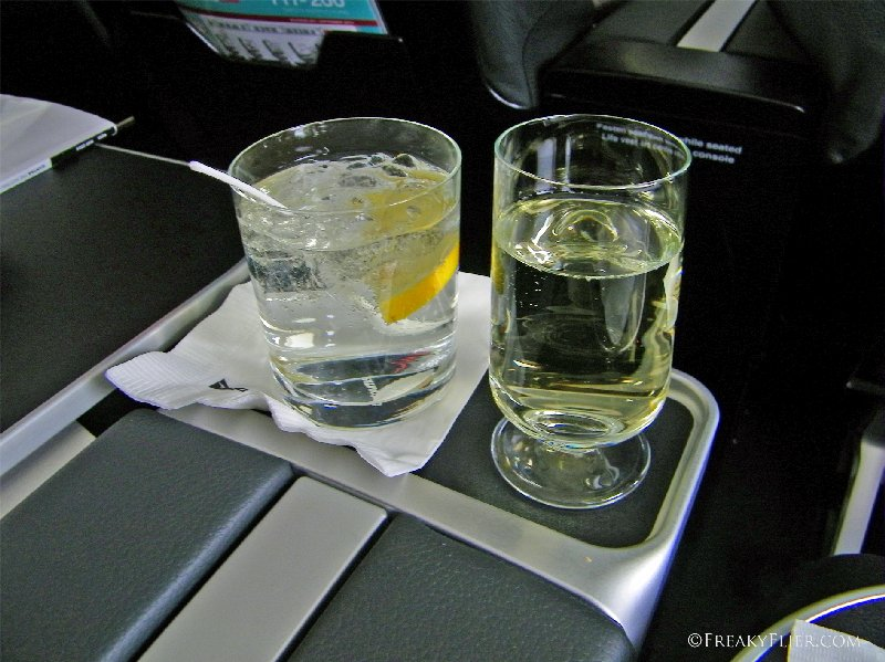 Gin and tonic and white wine