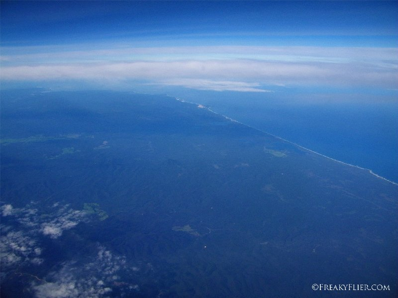 Flying over Victoria and crossing onto the mainland