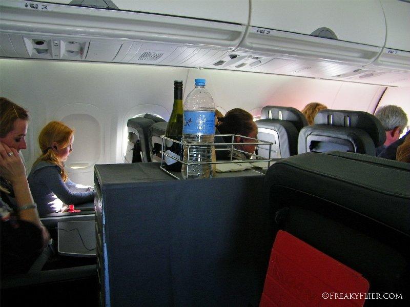 Drinks service on QANTASLINK Beoing 717-200 Hobart to Sydney
