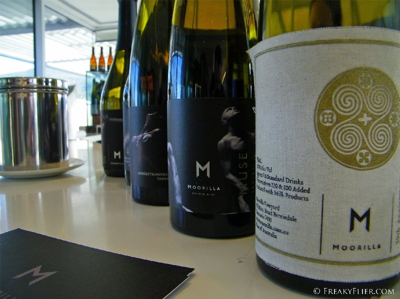 Moorilla wines at the cellar door