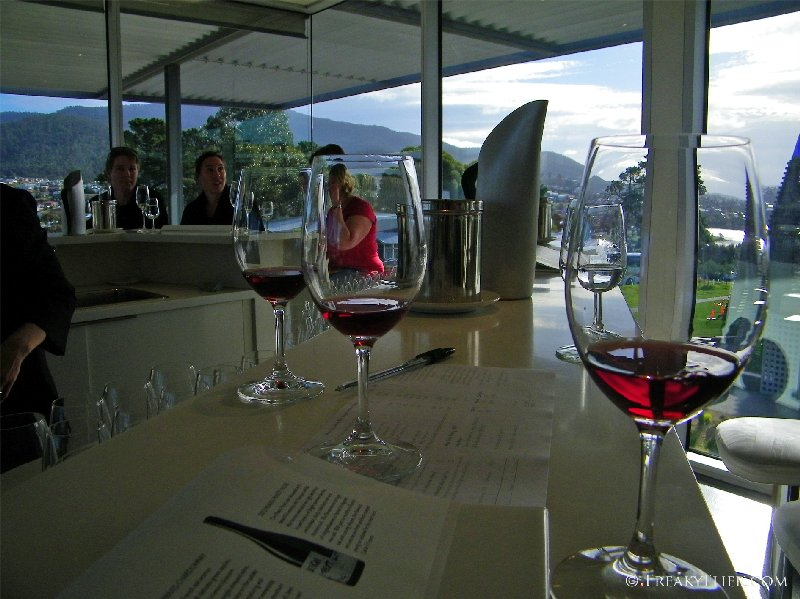 Tasting the reds at the cellar door