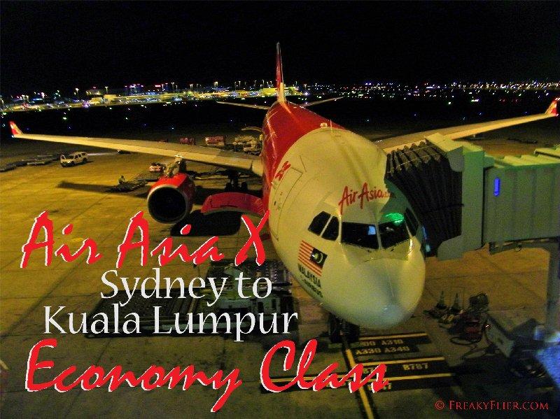 Air Asia X Sydney to Kuala Lumpur Economy Class