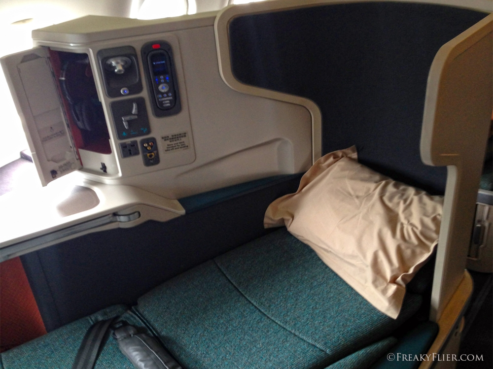 Business Class Seat as a bed