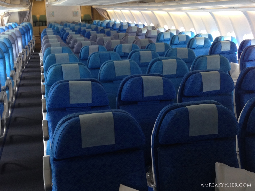 Economy Class Cabin on the A330-300