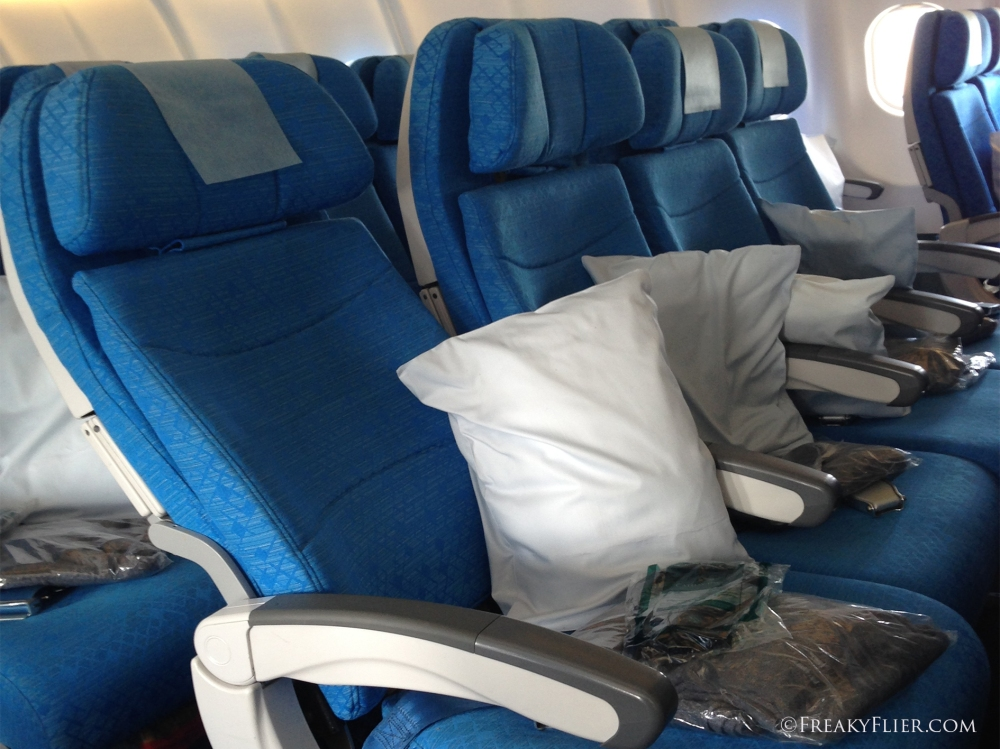 Economy Class Seat Recline Airbus A330-300