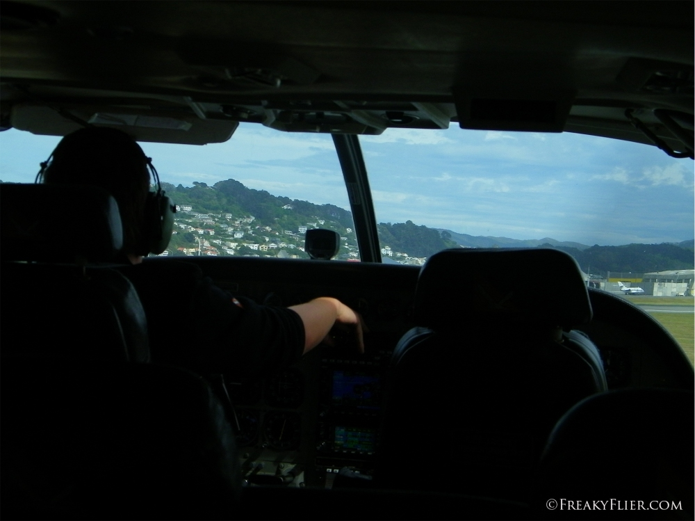 About to take off on Soundsair at Wellington Airport