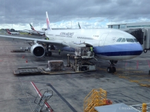 Arrival in Auckland on board China Airlines A330-300