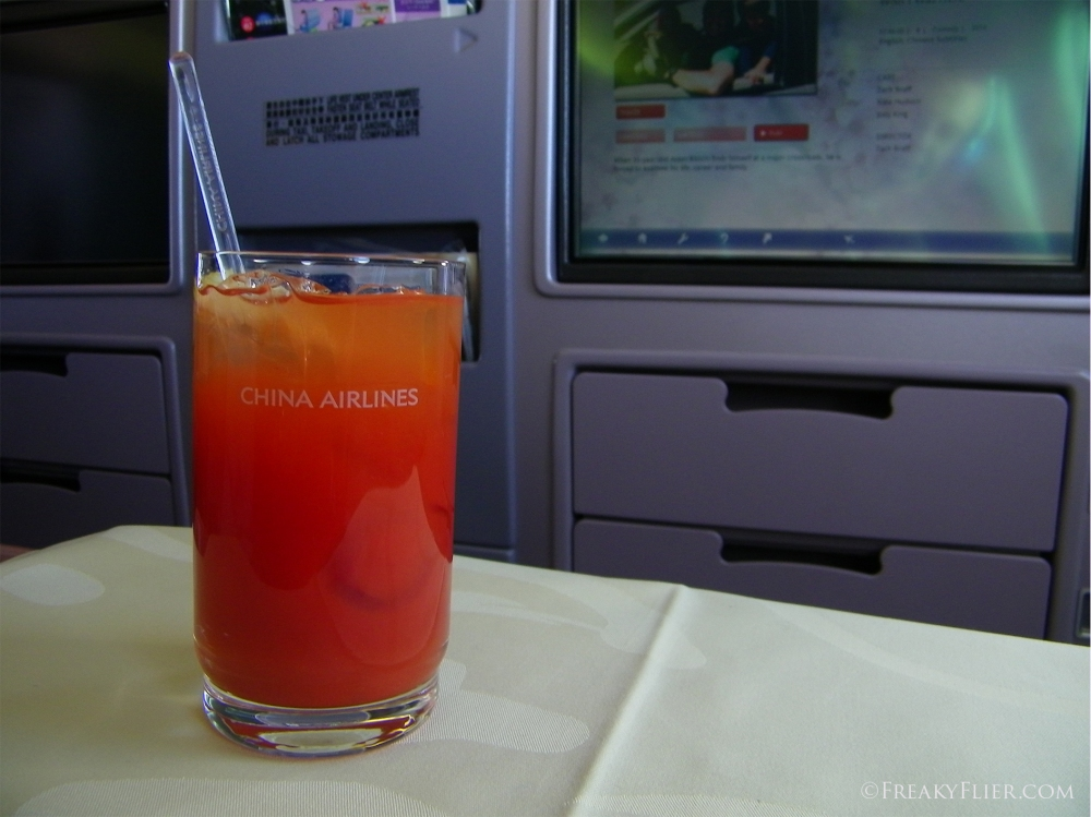 Bloody Mary in Business Class on board China Airlines