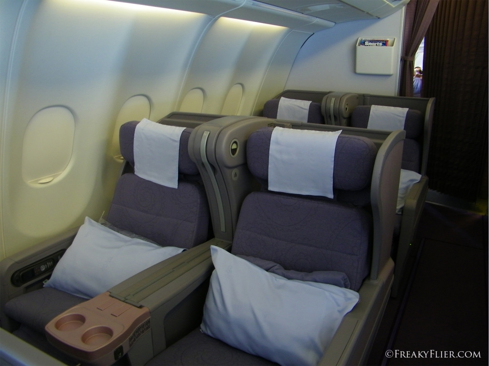 Business Class Cabin on China Airlines Airbus A330-300