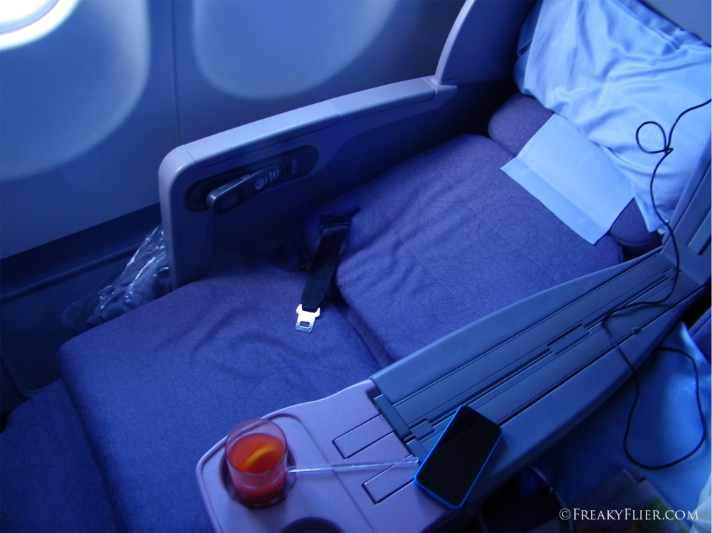 Reclined Business Class seat 2K on China Airlines A330-300