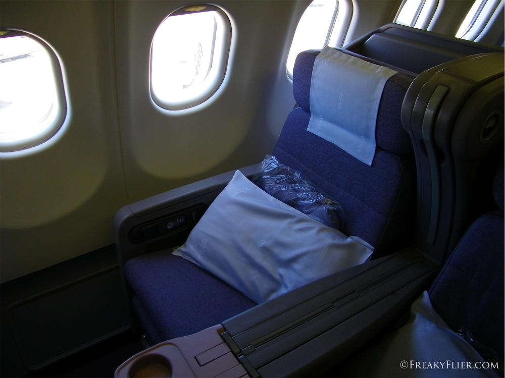 Business Class seat 2K on China Airlines