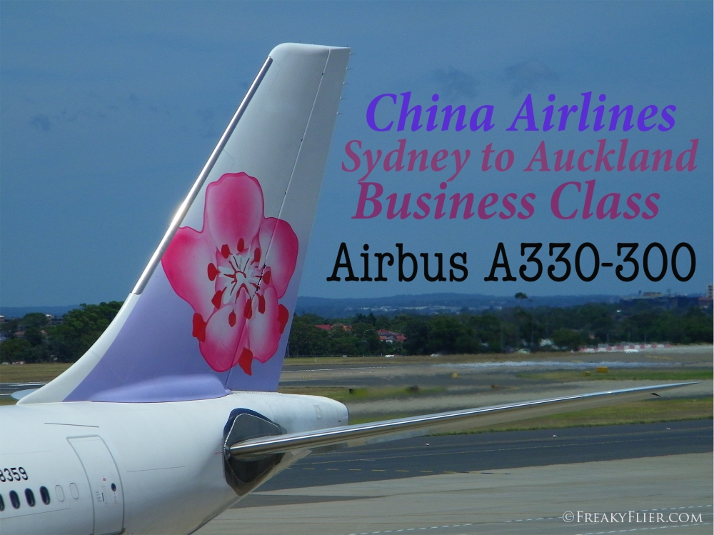 China Airlines Sydney to Auckland Business Class Airbus A330-300
