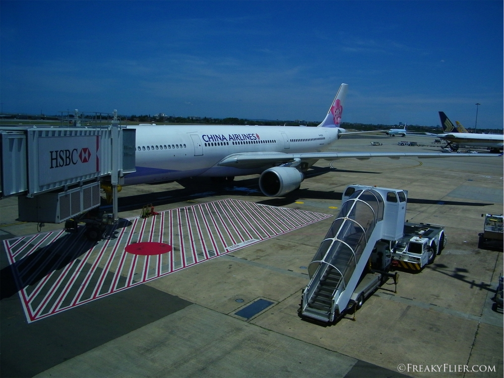 China Airlines waiting for boarding at Sydney Airport