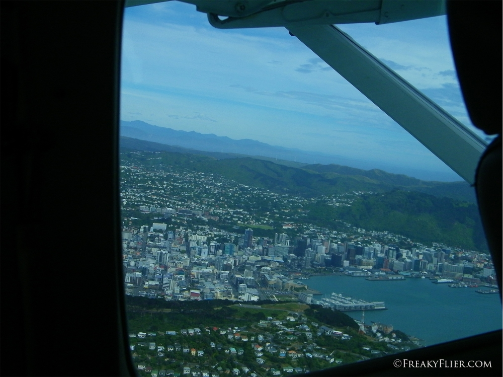 Departing over Wellington