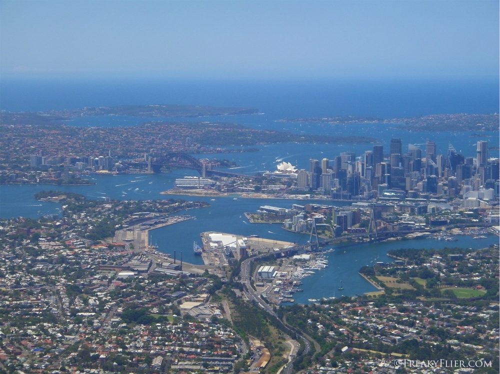 Departure over Sydney on China Airlines