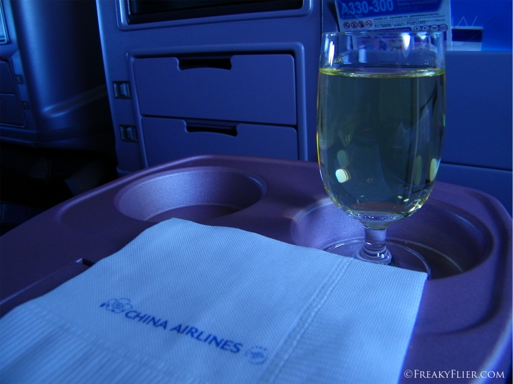 Final Sauvingnon Blanc before arrival in Auckland on Board China Airlines