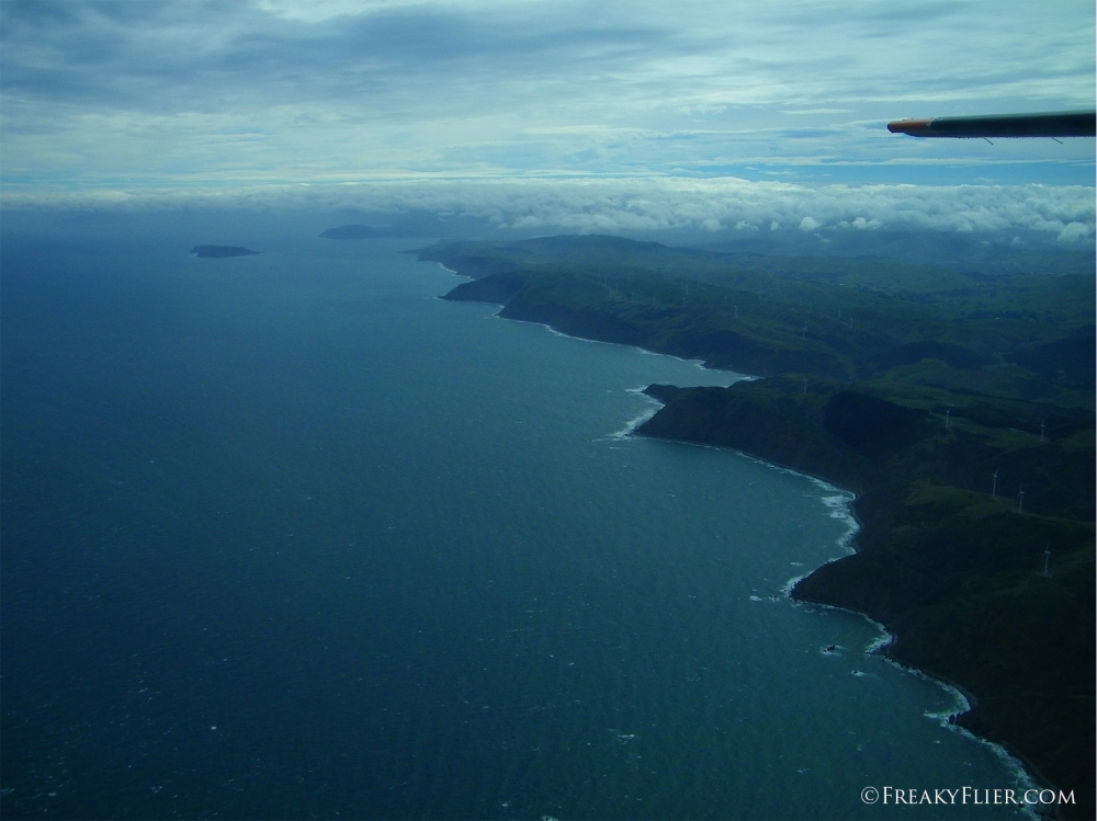 Leaving the North Island of New Zealand behind