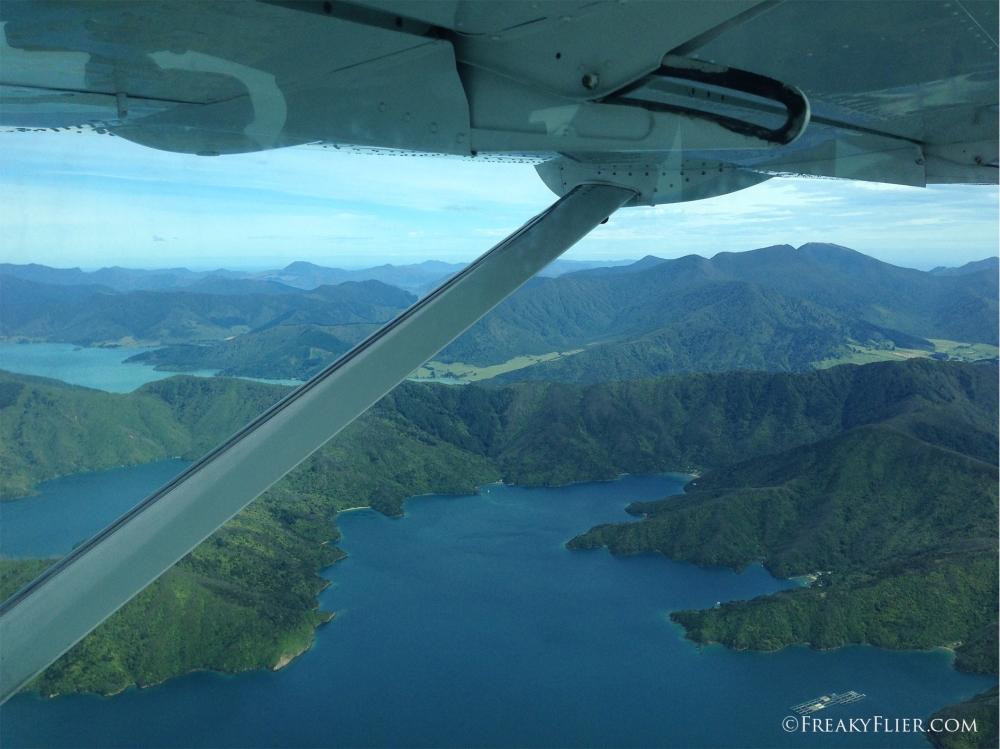 Over the Marlborough Sounds