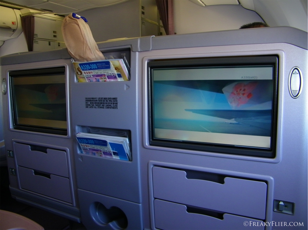 Seat Back AVOD on board China Airlines Airbus A330-300