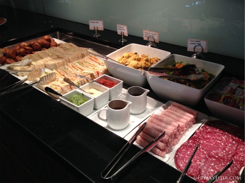 Cold cuts, salads and sandwiches at the QantasClub Wellington