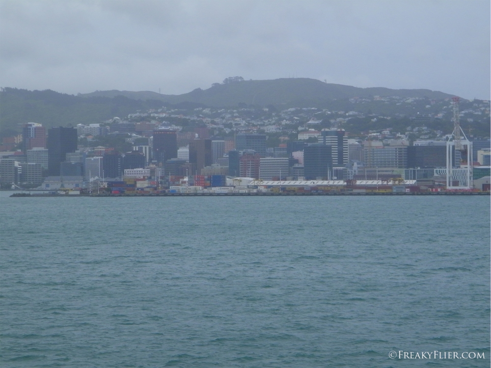 Cruising into Wellington