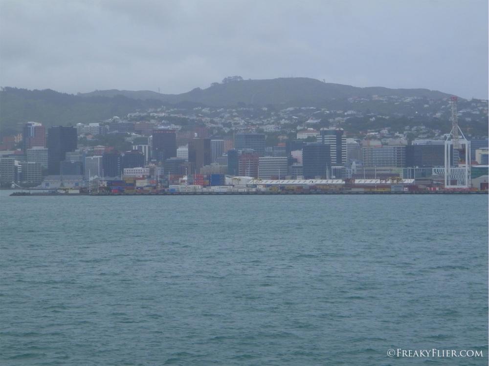 Cruising into Wellington
