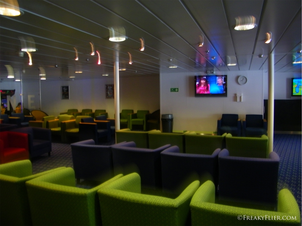 Family lounge onboard the MV Kaitaki