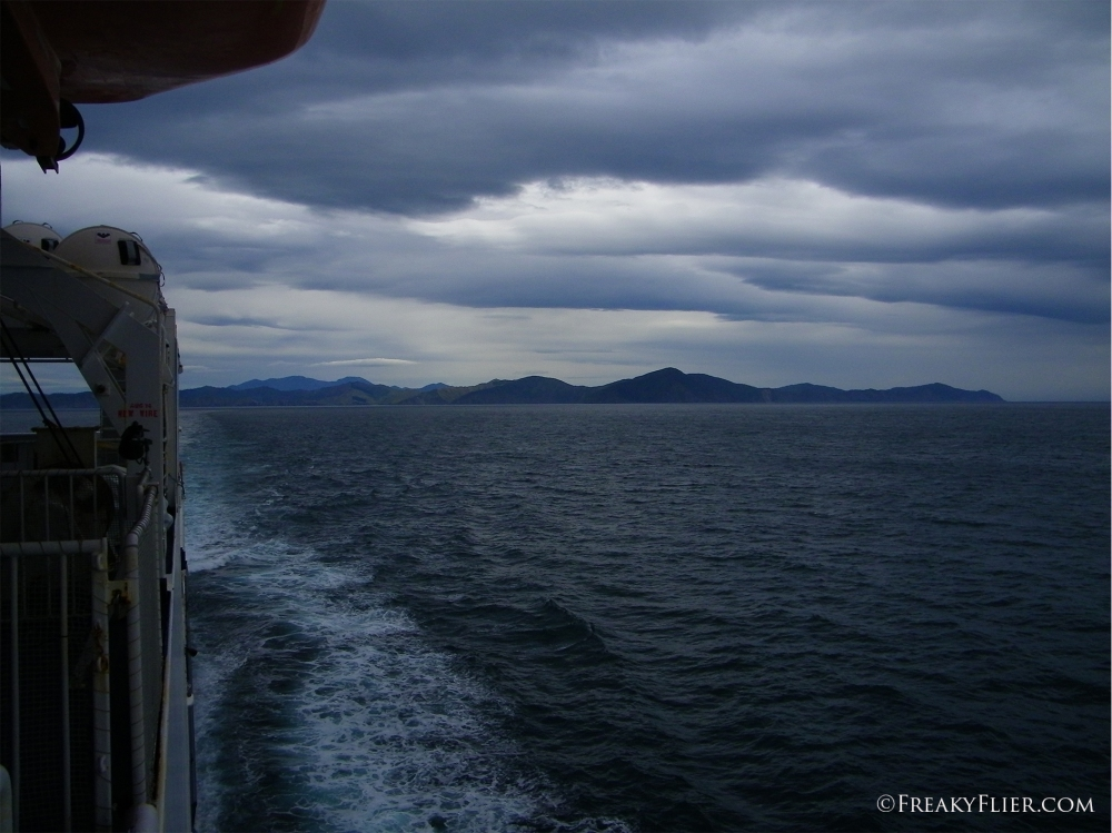 Leaving the South Island behind