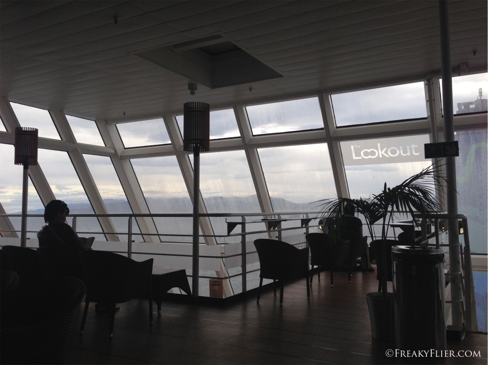 Outlook lounge at the rear of the ship