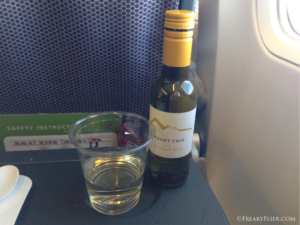 A Western Asutralia Mount Trio Sauvignon Blanc with dinner