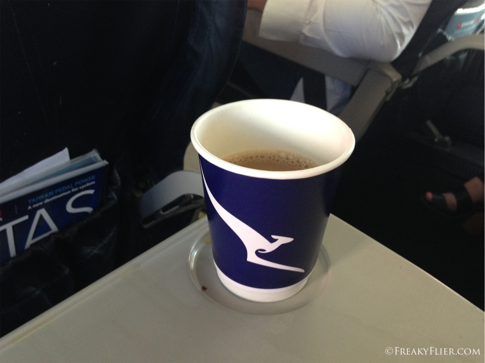 Coffee and tea was also available on this morning flight