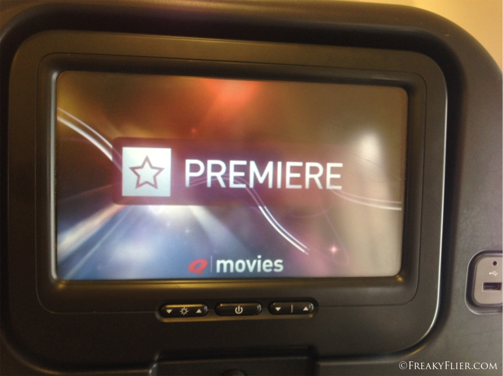 Economy Class seat back entertainment