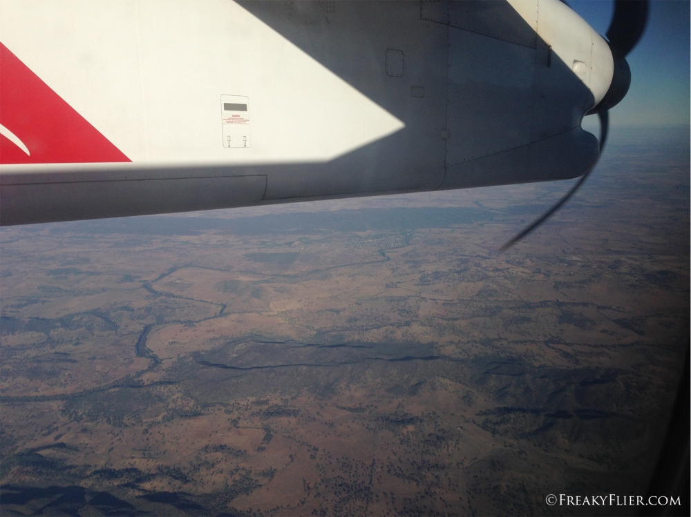 Flying over the Western Plains of NSW