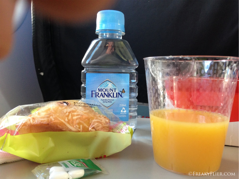 Juice, water and my friend
