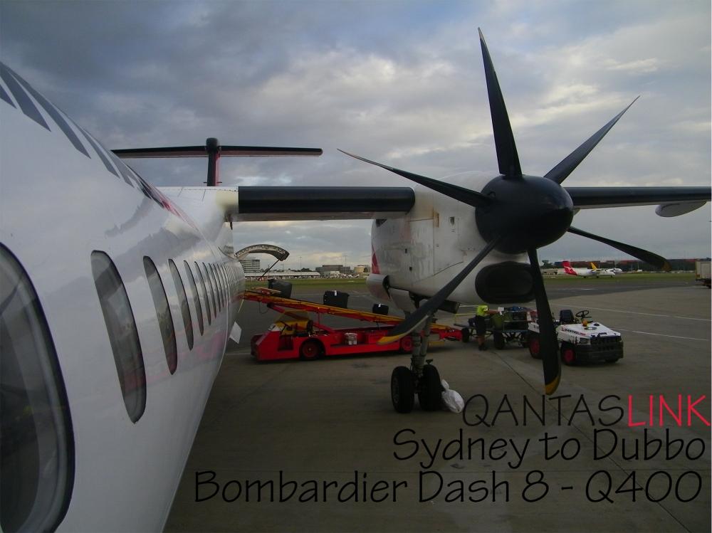 QANTASLINK Sydney to Dubbo Bombardier Dash 8 - Q400