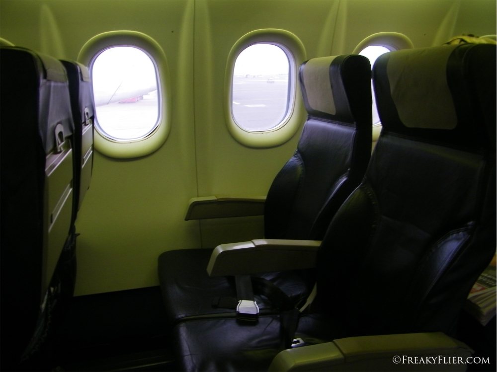 Seating and legroom on the Dash 8 - Q400