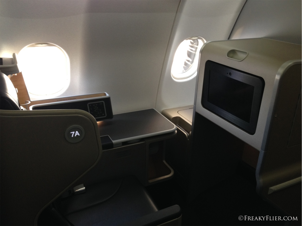 Suite 7A on QANTAS A330-200 VH-EBA