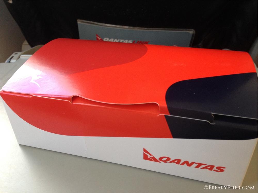 The breakfast box onboard QantasLink