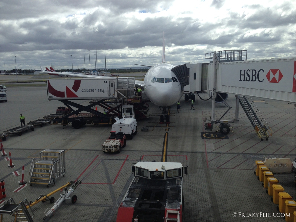 VH-EBA Arrival in Perth