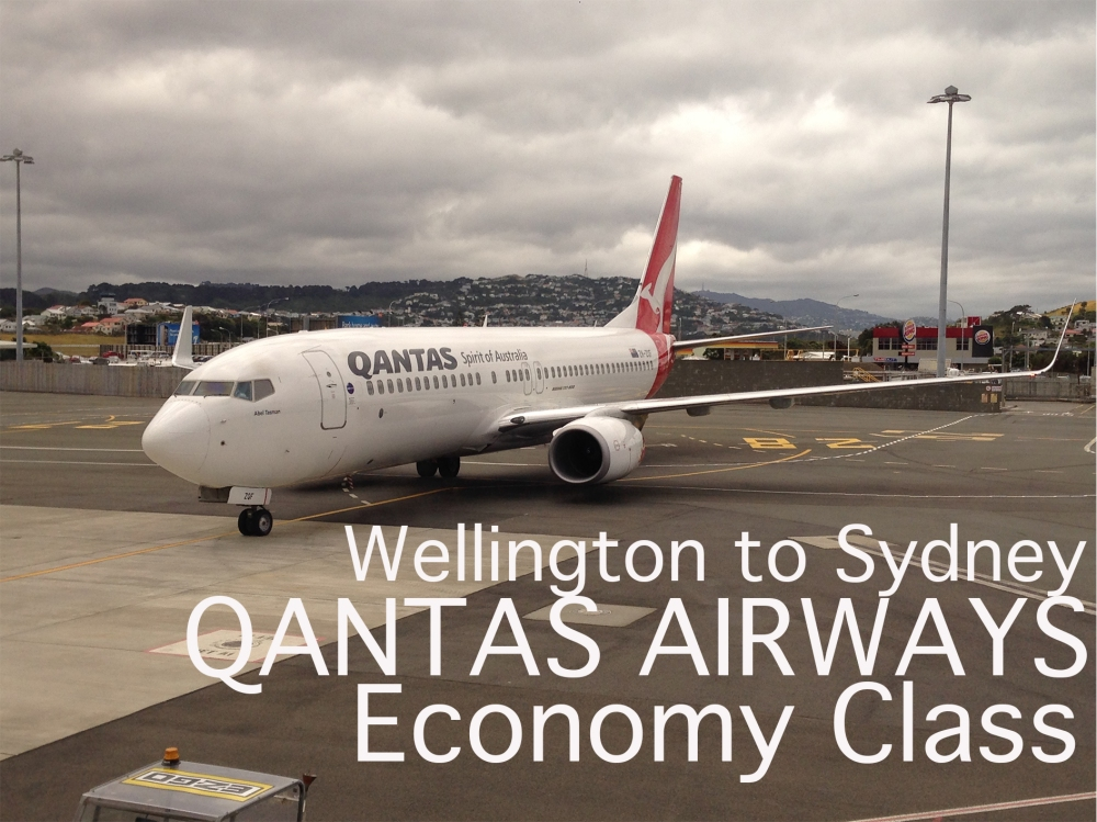 Wellington to Sydney QANTAS AIRWAS Economy Class