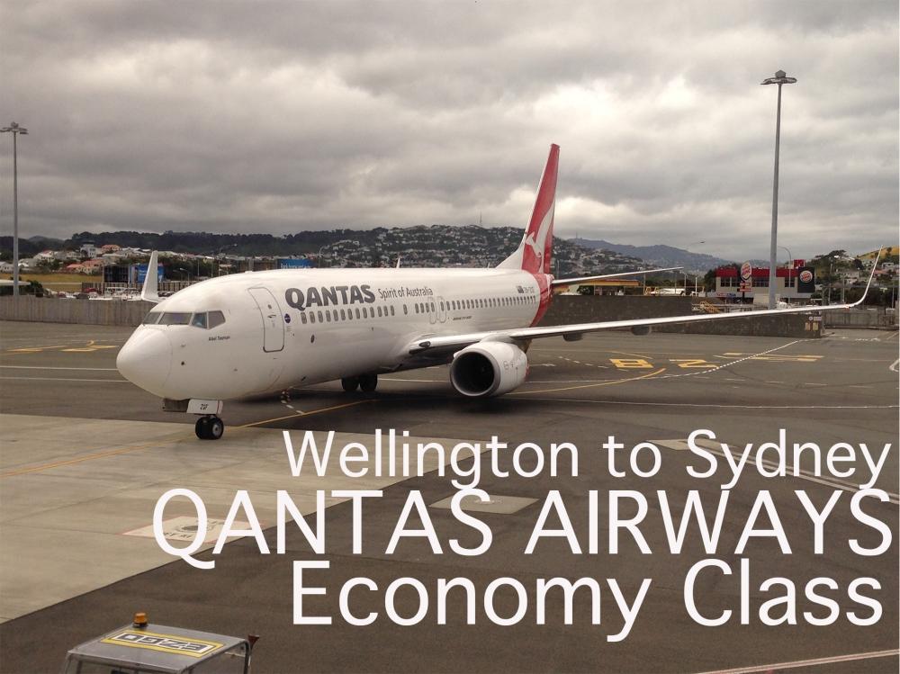 Wellington to Sydney QANTAS AIRWAS Economy Class
