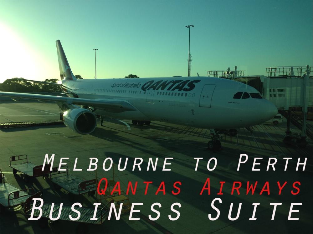 Melbourne to Sydney Qants Airwas Business Suite